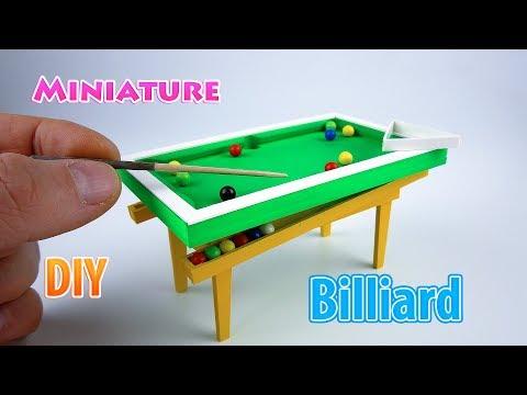 diy-realistic-miniature-billiard-table- -dollhouse- -no-polymer-clay!