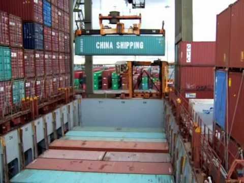 Unloading container ship at Port Elizabeth, NJ