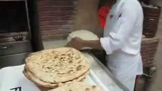 Making Iranian Bread in Kuwait