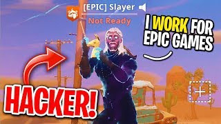 I MATCHED WITH A HACKER WHO HAS UNRELEASED SKINS ON FORTNITE! (Epic Games EMPLOYEE?)