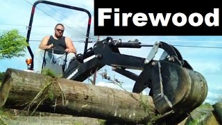 Diy 4x4 Tractor Assists With Cutting Firewood The Easy Way. Work Smarter Not Harder.