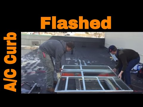 Flat Roof Curb Installation of an Air Conditioner