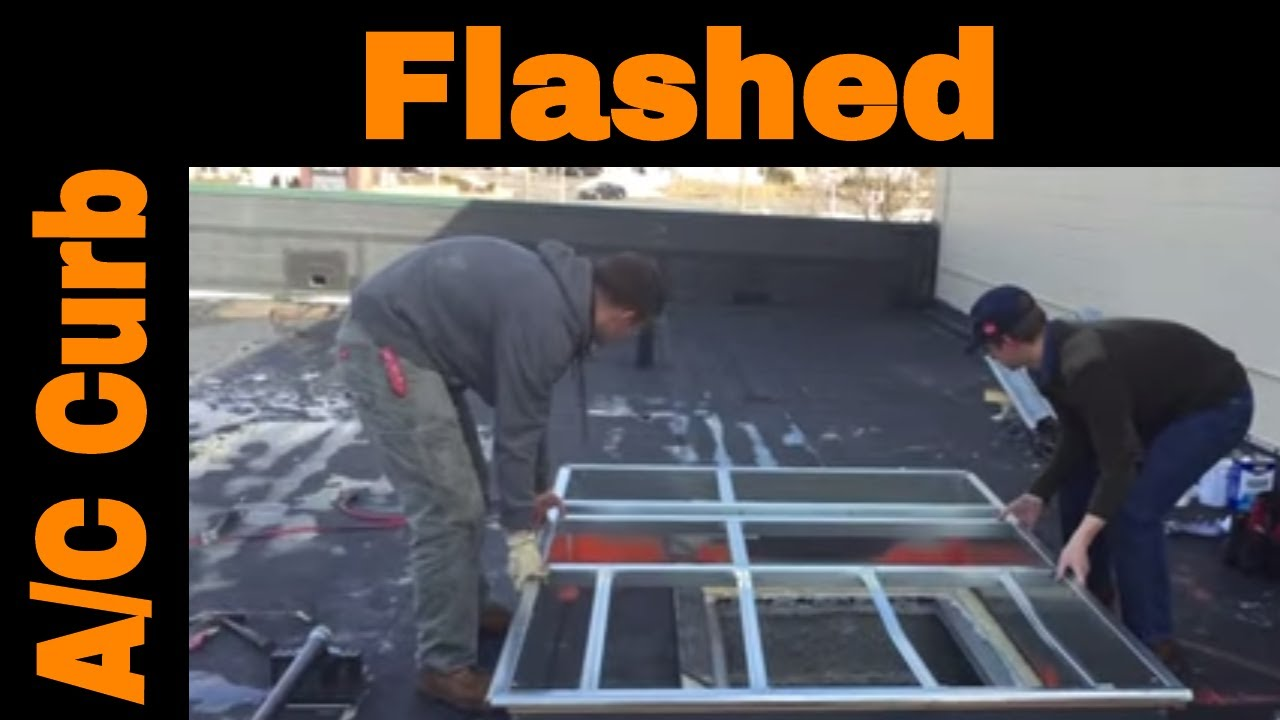 Flat Roof Curb Installation Of An Air Conditioner Youtube