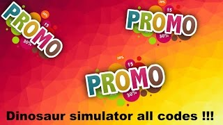 Roblox   Dinosaur simulator all promo codes ! [Tutorial]