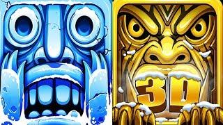 Temple Run 2 Frozen Festival VS Temple Dash Run Android iPad iOS Gameplay HD