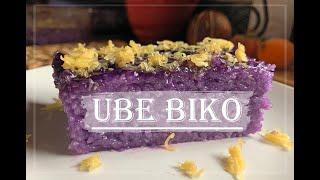UBE BIKO RECIPE  BIKO UBE WITH CHEESE  Live and Learn with Nancy  Ube Biko with cheese Recipe.