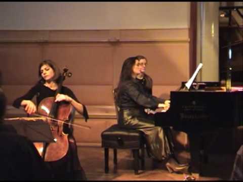 Beethoven-Sonata No.5 Op. 102 No.2. 2nd movement. Timora Rosler and Klára Würtz.