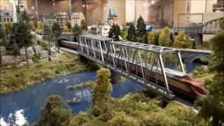 видео железнодорожный макет