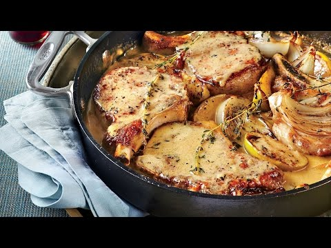 Skillet Pork Chops With Apples And Onions | Southern Living