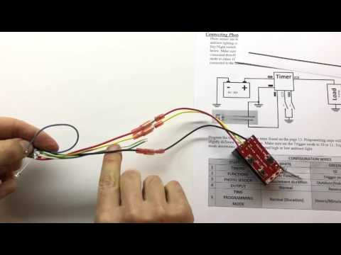Connecting light sensor to multi-functional timer.