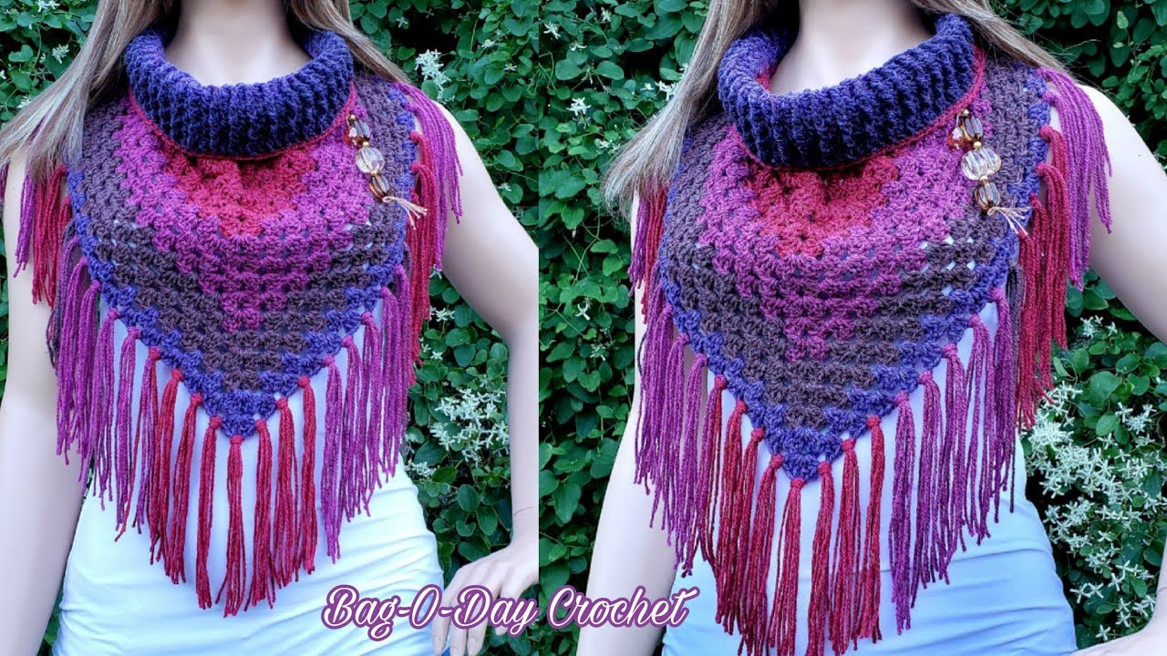 How To Crochet Wide Neck Bandana Cowl Midnight Stroll Bagoday