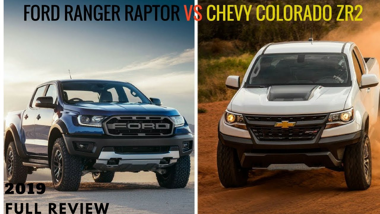WOW AMAZING !!! 2019 Ford Ranger Raptor vs Chevy Colorado ...