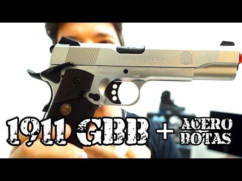 Pistola 1911 GBB Springfield Full Metal - Luiz Rider Airsoft Brasil