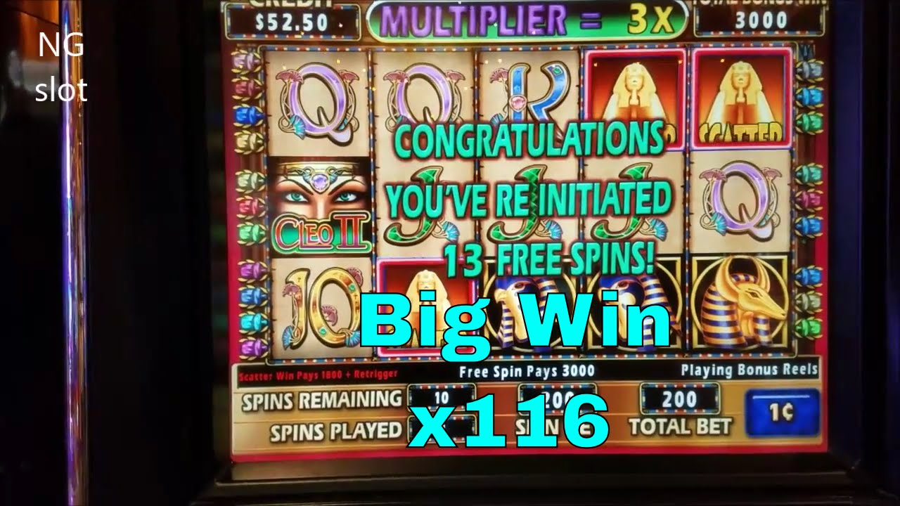 Cleopatra 2 Slot Machine Big Win Bonus ★retrigger Bonus