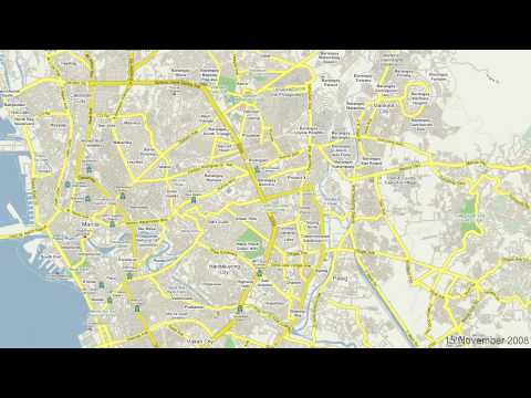 Google MapMaker Time Stamp Video - Metro Manila