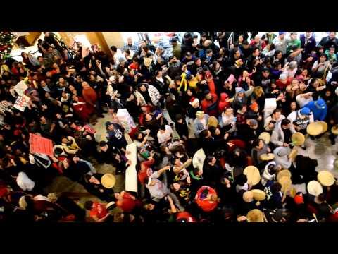 Idle No More Flash Mob, South Center Mall, Tukwila Washington