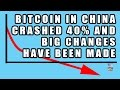 China Bitcoin CRASHED 40% Caused by Bitcoin Derivatives and Computer Trades?