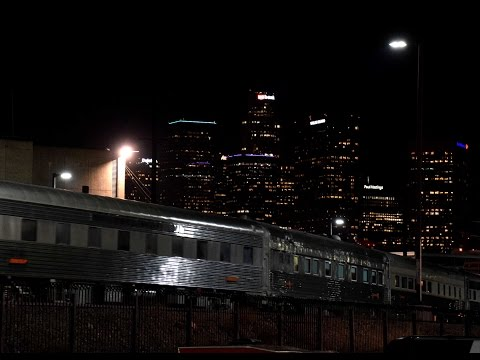 Six BNSF Business Cars on the Sunset Limited