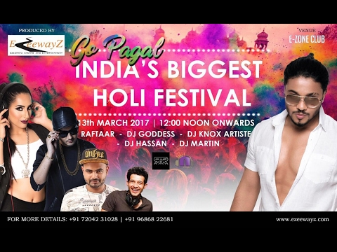India's Biggest Holi Festival 2017 with Raftaar LIVE in Bangalore