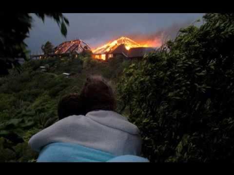 Richard Branson's Home on Necker Island burnt in Fire - Photos