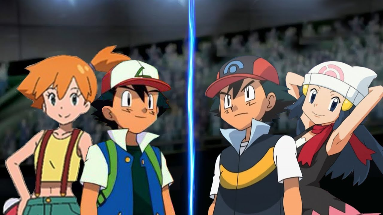 Pokemon Battle USUM: Kanto Ash and Misty Vs Sinnoh Ash and ...
