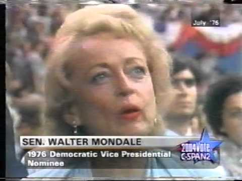 1976 Walter Mondale Democratic Convention Vice President Acceptance Speech