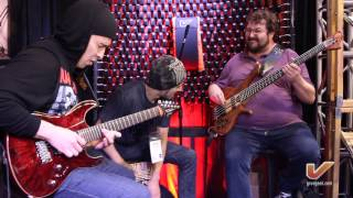 Leonardo Guzman, Bruno Valverde & Federico Malaman LIVE at the Gruv Gear NAMM 2014 booth - Part 1