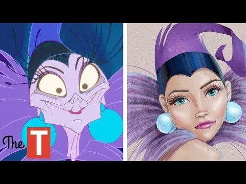 10 Disney Villains Reimagined As BEAUTIFUL
