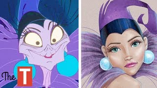 10 Disney Villains Reimagined As BEAUTIFUL