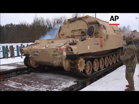 US military equipment arrives in Poland