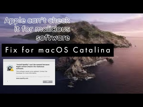 Catalina: App Can't Be Opened Because Apple Cannot Check It For Malicious Software