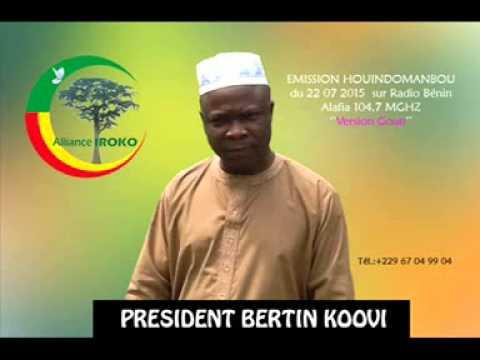 DR KOOVI BERTIN - EMISSION HOUINDOMANBOU en goun DU 22 07 2015 sur RADIO BENIN ALAFIA