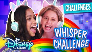 Whisper Challenge 💭 | Ruth & Ruby Ultimate Sleepover | Disney Channel