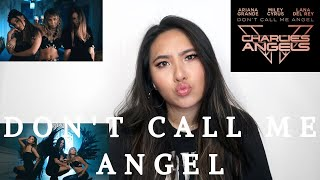 Ariana Grande, Miley Cyrus, Lana Del Rey - Don't Call Me Angel (Charlie's Angels) MV REACTION