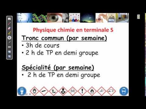 Présentation de l'enseignement de spécialité physique chimie en TS
