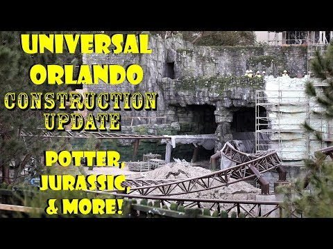 Universal Orlando Resort Construction Update 1.10.19 Potter, Jurassic, Bourne, & More!