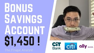 Top Bonus Saving Accounts that pays me $1,450 + Interest