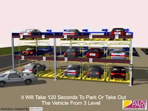 3 Level Puzzle Parking System by PARI Animation