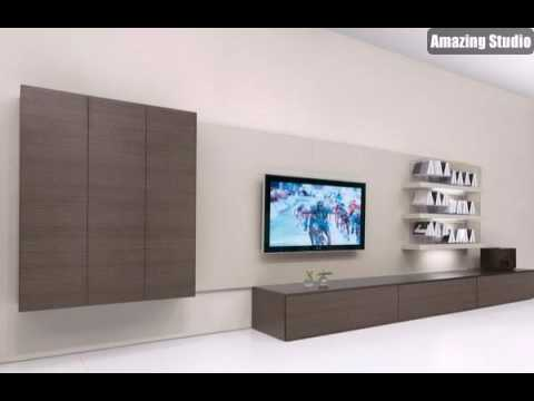 fernsehm bel mit einem modernen design modernes interior design tv m bel aus holz youtube. Black Bedroom Furniture Sets. Home Design Ideas