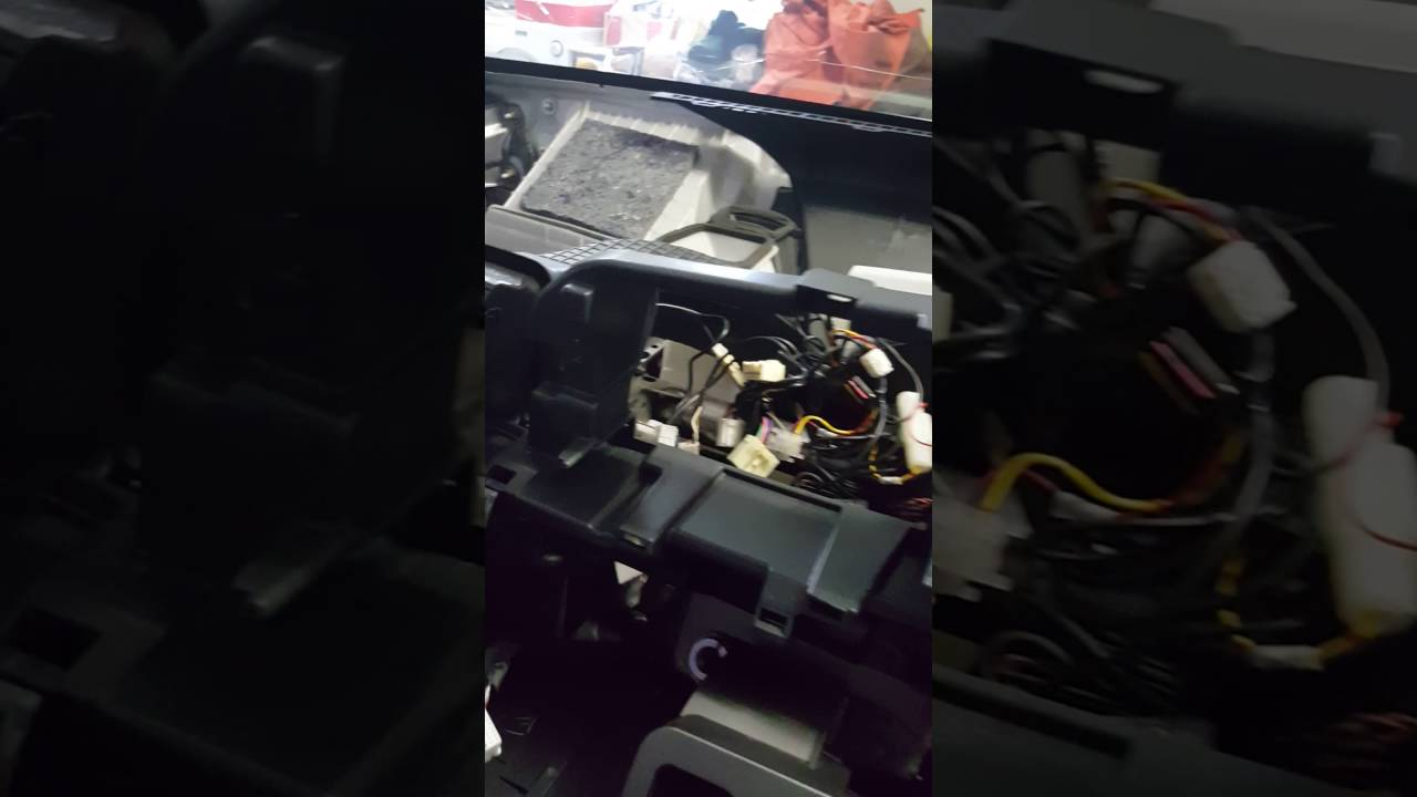 toyota wish 2005 dashboard removed for air bag replacement