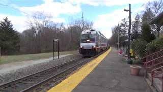 3 Trains on the Pascack Valley Line 4/8/18