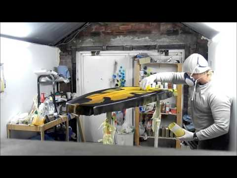Fibreglassing a Custom Surfboard with Resin Tints at ND Surfboards