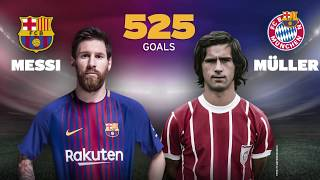 Messi ties Müller's 525 goals record