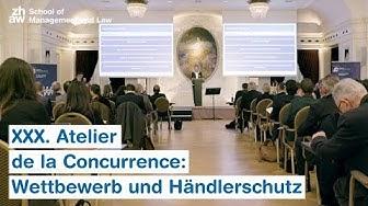 XXX. Atelier de la Concurrence: Wettbewerb und Händlerschutz
