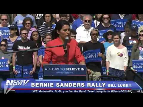 Tulsi Gabbard Speaks at Bernie Sanders Rally in Gainesville, FL - FNN