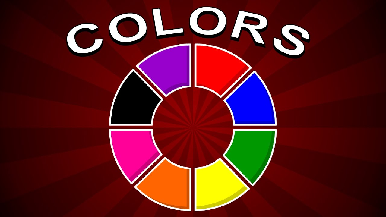 Colors For Children Learn With Wheel Chart Colors For Kids