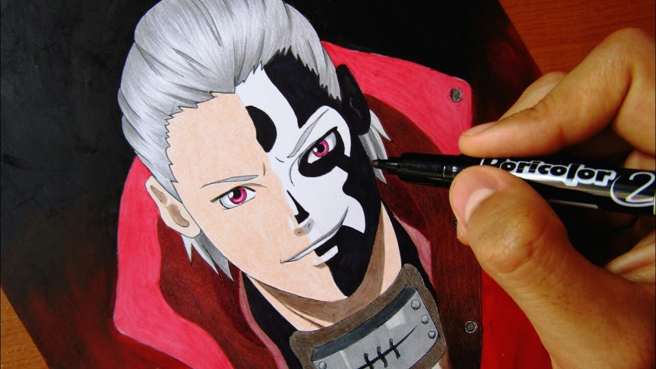 Speed Drawing Hidan Akatsuki Youtube