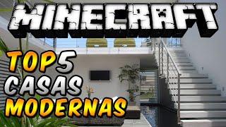 """Minecraft Top 5 - """"Casas Modernas"""" - Episodio 11"""