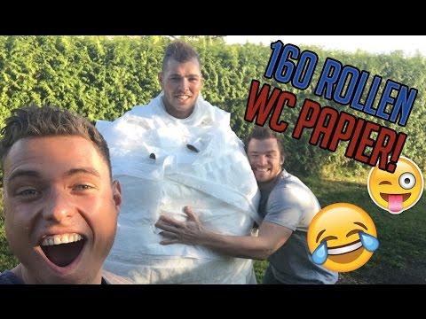 AART IN 160 ROLLEN WC PAPIER INWIKKELEN!