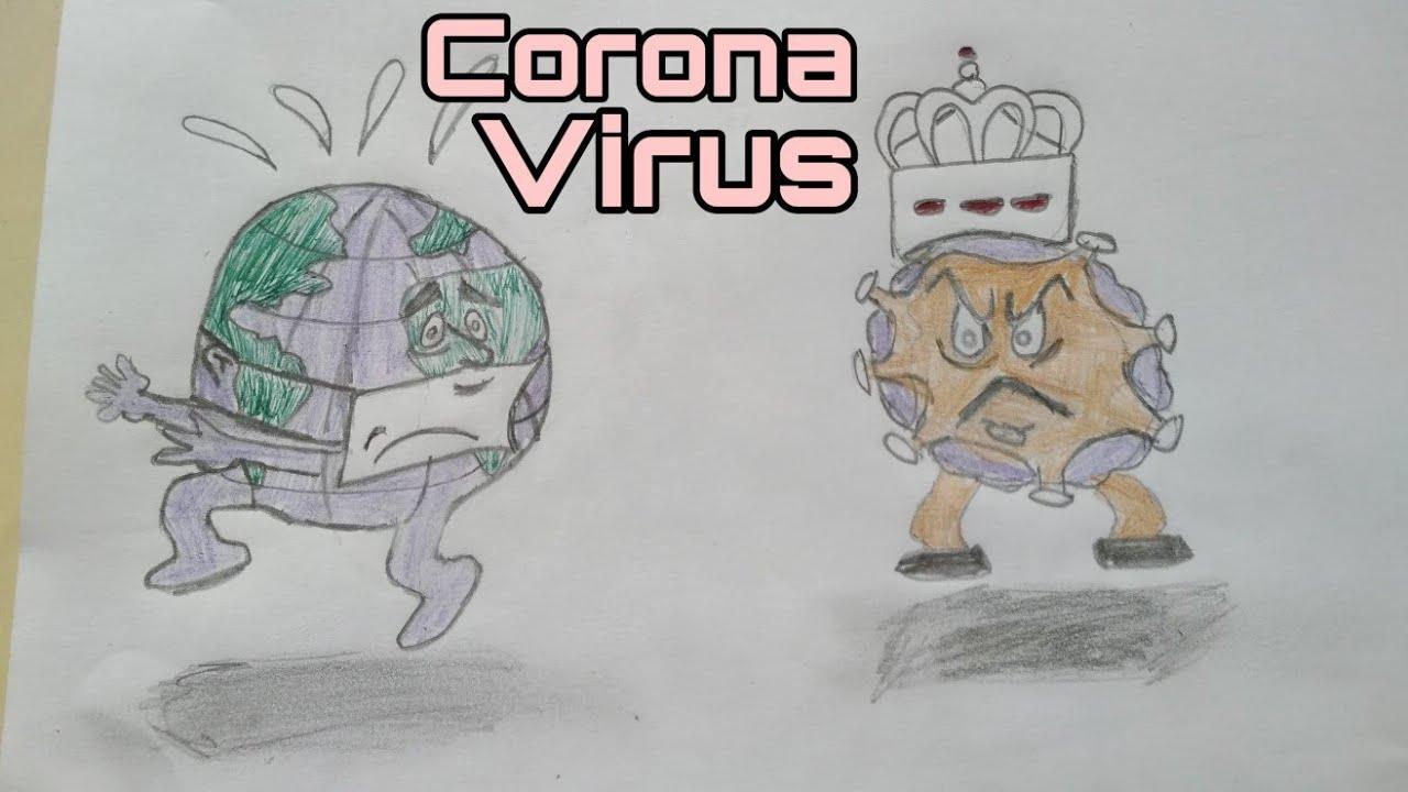 تعلم الرسم عن فيروس كور ونا سهل جدا Youtube